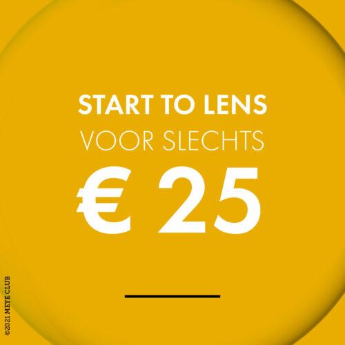 Start to lens voor slechts € 25